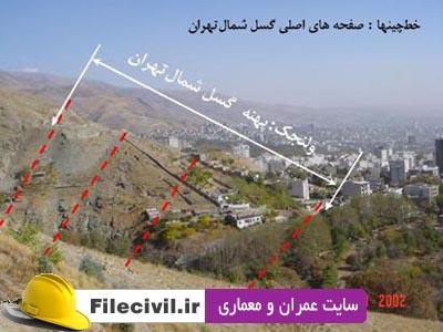 گسل های اصلی و لرزه زا شهر تهران