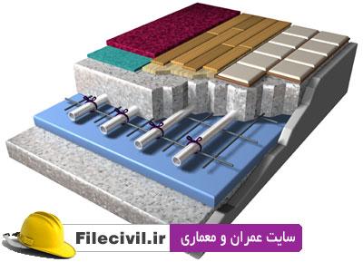 دیتیل های گرمایش از کف و دیوار و سرمایش از سقف