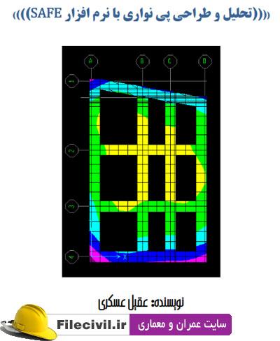 آموزش تحلیل و طراحی پی نواری با safe8