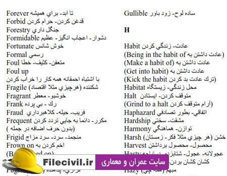 1400 لغت پر کاربرد انگلیسی با معنی فارسی