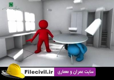 انیمیشن های کوتاه در مورد آمادگی حین وقوع زلزله