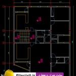 دانلود نقشه معماری آپارتمان 160 متری 13*13
