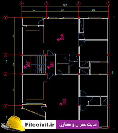 نقشه معماری آپارتمان 160 متری 13*13