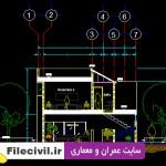 دانلود نقشه معماری ویلای دوبلکس 80 متری